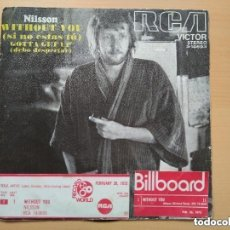 Discos de vinilo: NILSSON - WITHOUT YOU (SG) 1972. Lote 152108890