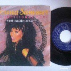 Discos de vinilo: DONNA SUMMER - UNCONDITIONAL LOVE / WOMAN - SINGLE 1983 - MERCURY. Lote 152116914