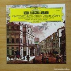 Discos de vinilo: VERDI - LA SCALA ABBADO - LP. Lote 152119529