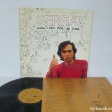 Discos de vinilo: JOAN MANUEL SERRAT - CADA LOCO CON SU TEMA -LP- ARIOLA 1983 SPAIN I-205 417 CON LETRAS. Lote 152132602
