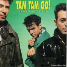 Disques de vinyle: TAM TAM GO - CRIMEN PASIONAL / JENNIFER BONES (SINGLE ESPAÑOL, EMI 1991). Lote 152135506