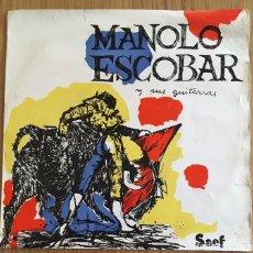 Disques de vinyle: MANOLO ESCOBAR Y SUS GUITARRAS EP SAEF AÑO 1959. Lote 152143958