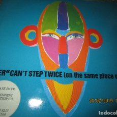 Discos de vinilo: TEACHER - CAN´T STEP TWICE (ON SAME PIECE OF WATER) SINGLE ORIGINAL INGLES - ISLAND RECORDS 1990 -. Lote 152146666