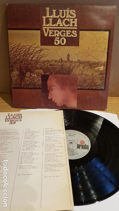 LLUÍS LLACH / VERGES 50 / LP-GATEFOLD - ARIOLA - 1980 / MBC. ***/*** (Música - Discos - LP Vinilo - Cantautores Españoles)