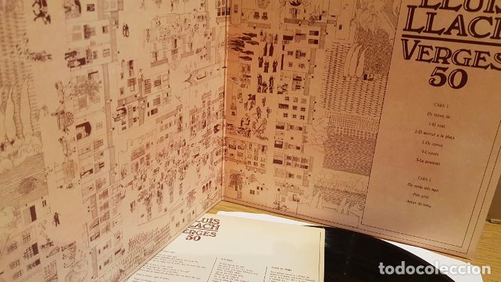 Discos de vinilo: LLUÍS LLACH / VERGES 50 / LP-GATEFOLD - ARIOLA - 1980 / MBC. ***/*** - Foto 2 - 152147790