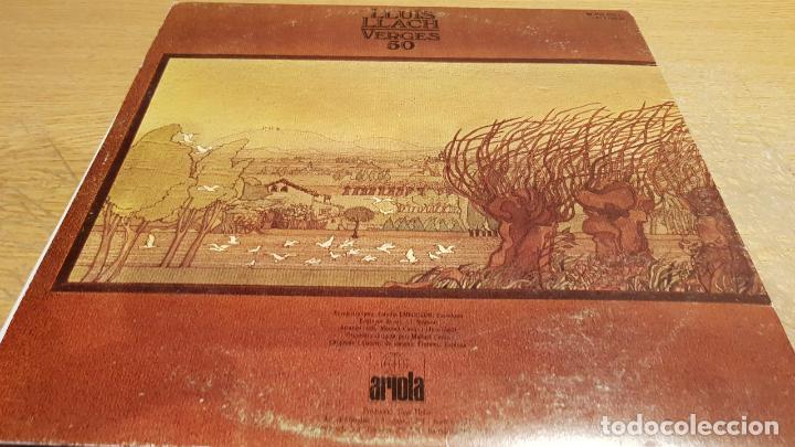 Discos de vinilo: LLUÍS LLACH / VERGES 50 / LP-GATEFOLD - ARIOLA - 1980 / MBC. ***/*** - Foto 3 - 152147790