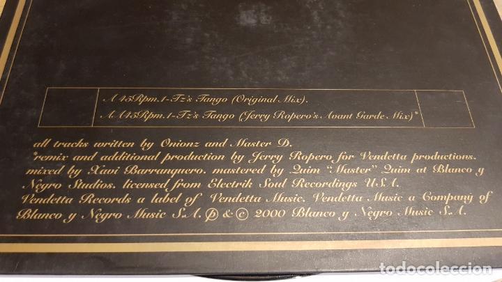 Discos de vinilo: ONIONZ & MASTER D / TZS TANGO / MAXI-SG - VENDETTA RECORDS - 2000 / MBC. ***/*** - Foto 3 - 152148670