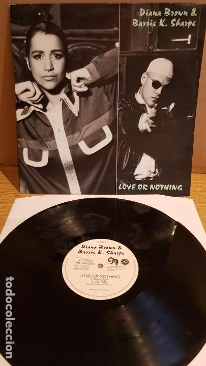 DIANA BROWN & BARRIE K. SHARPE / LOVE OR NOTHING / MAXI-SG - FFRR RECORDS / MBC. ***/*** (Música - Discos de Vinilo - Maxi Singles - Electrónica, Avantgarde y Experimental)