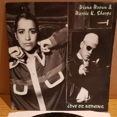 Discos de vinilo: DIANA BROWN & BARRIE K. SHARPE / LOVE OR NOTHING / MAXI-SG - FFRR RECORDS / MBC. ***/***. Lote 152149570
