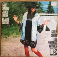Discos de vinilo: CARLY SIMON JAMES TAYLOR SINGLE EDICION ESPAÑA WARNER AÑO 1974. Lote 152155346