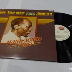 Discos de vinilo: J- HANK JONES TRIO HAVE YOU MEET THIS JONES? LP 1977. Lote 152155354