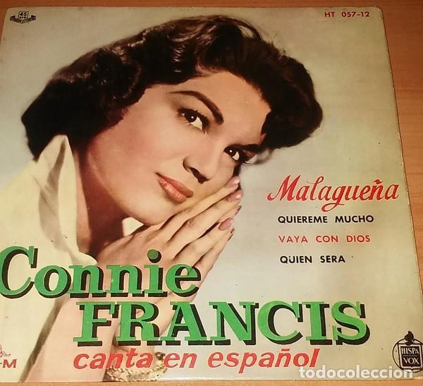 CONNIE FRANCIS - MALAGUEÑA - EP SPAIN 1960 (Música - Discos de Vinilo - EPs - Pop - Rock Extranjero de los 50 y 60)