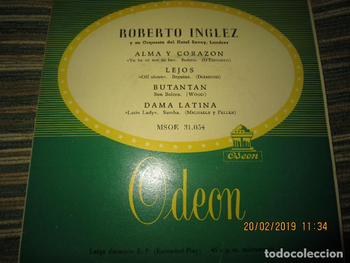 ROBERTO INGLEZ - ALMA Y CORAZON EP - ORIGINAL ESPAÑOL - ODEON RECORDS AÑOS 50 - (Música - Discos - Singles Vinilo - Orquestas)