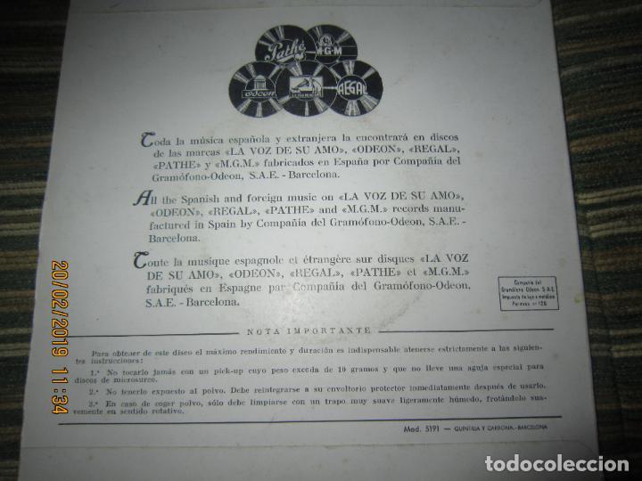 Discos de vinilo: ROBERTO INGLEZ - ALMA Y CORAZON EP - ORIGINAL ESPAÑOL - ODEON RECORDS AÑOS 50 - - Foto 2 - 152166322