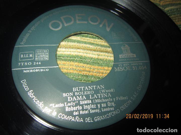 Discos de vinilo: ROBERTO INGLEZ - ALMA Y CORAZON EP - ORIGINAL ESPAÑOL - ODEON RECORDS AÑOS 50 - - Foto 3 - 152166322