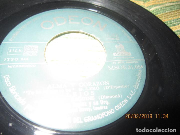 Discos de vinilo: ROBERTO INGLEZ - ALMA Y CORAZON EP - ORIGINAL ESPAÑOL - ODEON RECORDS AÑOS 50 - - Foto 4 - 152166322