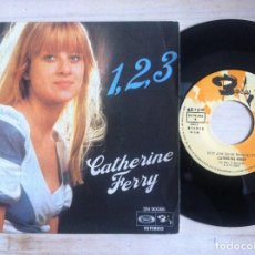 Discos de vinilo: CATHERINE FERRY - 1, 2, 3 / PETIT JEAN - SINGLE ESPAÑOL 1976 - BARCLAY. Lote 152169830