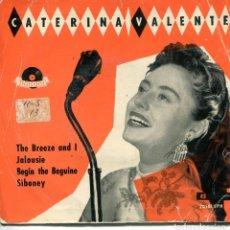 Discos de vinilo: CATERINA VALENTE / THE BREEZE AND I + 3 (EP 1958). Lote 152172450