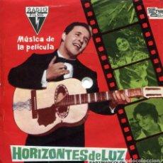 Discos de vinilo: HORIZONTES DE LUZ (BSO) TORREBRUNO / EL CIELO,LA LUNA Y TU / VUELA, VUELA GAGARIN (DISCOFLEX 1962). Lote 152177446