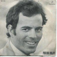 Discos de vinilo: JULIO IGLESIAS / POR UNA MUJER / SWEET CAROLINE (SINGLE 1972). Lote 152178698