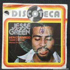 Discos de vinilo: JESSE GREEN - VEN CONMIGO - COME WITH ME - SINGLE - ESPAÑA - 1977 - NO CORREOS - MUSICA DISCO. Lote 152179046
