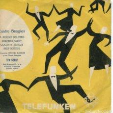 Discos de vinilo: MARCEL BIANCHI Y SUS CINCO BOOGIES / EL BOOGIE DEL TREN / COCOTE BOOGIE + 2 (EP 1958). Lote 152180442