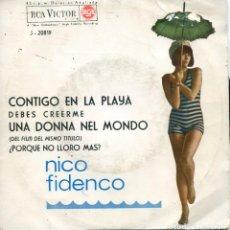 Discos de vinilo: NICO FIDENCO / CONTIGO EN LA PLAYA + 3 (EP 1964). Lote 152181846