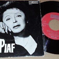 Discos de vinilo: EP - EDITH PIAF - RECUERDO A EDITH PIAF - LA VIE EN ROSE/LES TROIS CLOCHES/HYMNE A L'AMOUR + 1. Lote 152182866