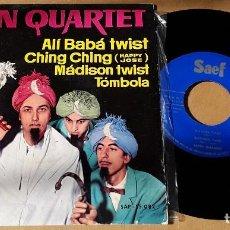 Discos de vinilo: EP- LATIN QUARTET - ALI BABA TWIST / CHING CHING / MADISON TWIST / TOMBOLA - LATIN QUARTET. Lote 152184794