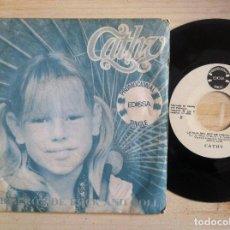 Discos de vinilo: CATHY - UN BIBERÓN DE ROCK AND ROLL / LA HIJA DEL REY DE CASTILLA - SINGLE PROMOCIONAL 1981 - EDIGSA. Lote 152190262