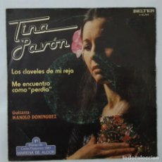 Discos de vinilo: SINGLE / TINA PAVON / LOS CLAVELES DE MI REJA / ME ENCUENTRO COMO PERDIDA / BELTER 1-10.245 / 1982. Lote 152190878