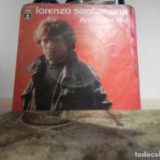 Discos de vinilo: LORENZO SANTAMARIA.- AND LOVE HER...... (VER ESTADO FUNDA). Lote 152190906