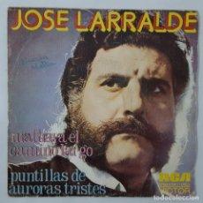 Discos de vinilo: SINGLE / JOSE LARRALDE / MALHAYA EL CAMINO LARGO / PUNTILLAS DE AURORAS TRISTES / RCA NPBO 9108/1973. Lote 152194210