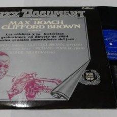 Discos de vinilo: MAX ROACH & CLIFFORD BROWN V.2- LP 1973. Lote 152205066