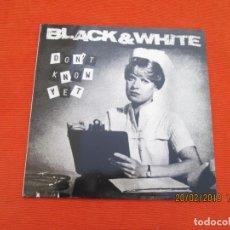 Disques de vinyle: BLACK & WHITE ?– DON'T KNOW YET. Lote 152209142