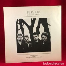 Discos de vinilo: U2 - PRIDE(IN THE NAME OF LOVE)84, MAXI EP 4 TEMAS / RARA 1ª EDT UK ISLAND, CARPETA TEXTURADA, EX. Lote 152222442