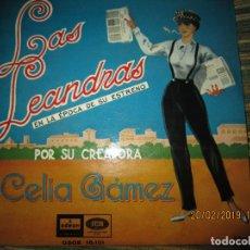 Discos de vinilo: CELIA GAMEZ - LAS LEANDRAS E.P. - ORIGINAL ESPAÑOL - EMI-ODEON RECORDS 1958 -. Lote 152248426