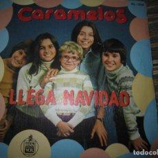Discos de vinilo: CARAMELOS - LLEGA LA NAVIDAD SINGLE ORIGINAL ESPAÑOL - HISPAVOX RECORDS 1979 -. Lote 152250854