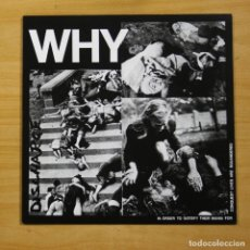 Discos de vinilo: DISCHARGE - WHY - LP. Lote 152253376