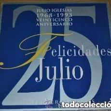 Discos de vinilo: JULIO IGLESIAS - FELICIDADES JULIO (SUS PRIMEROS EXITOS) 25 ANIVERSARIO - DOBLE LP SPAIN 1993. Lote 152266794