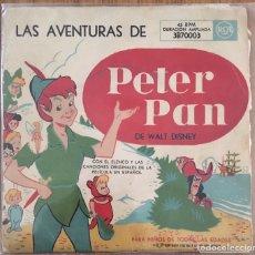 Discos de vinilo: PETER PAN SINGLE RCA ESPAÑOL MUY ANTIGUO Y BIEN CONSERVADO. Lote 152279834