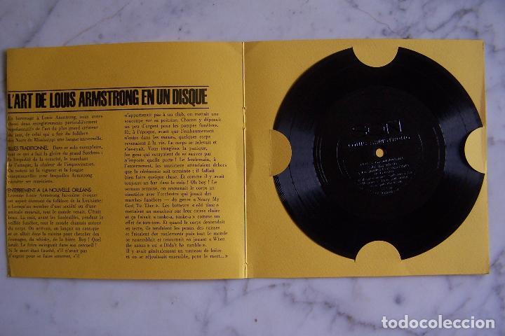 Discos de vinilo: RARÍSIMO SINGLE DE LOUIS ARMSTRONG. JOUE POUR VOUS!! BLUES TRADITIONNEL ENTERREMENT A LA NOUVELLE... - Foto 2 - 152289434