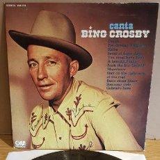 Discos de vinilo: CANTA BING CROSBY / LP - GRAMUSIC - 1974 / MBC. ***/***. Lote 152290538