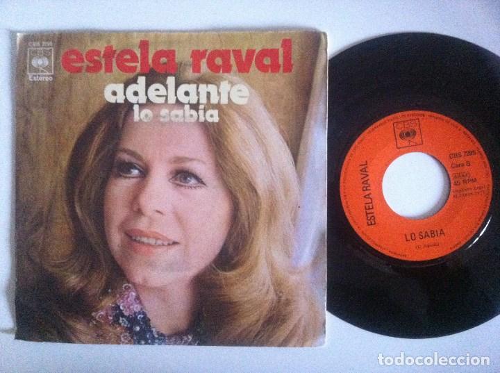 ESTELA RAVAL - ADELANTE / LO SABIA - SINGLE 1971 - CBS - LOS 5 LATINOS (Música - Discos - Singles Vinilo - Grupos y Solistas de latinoamérica)