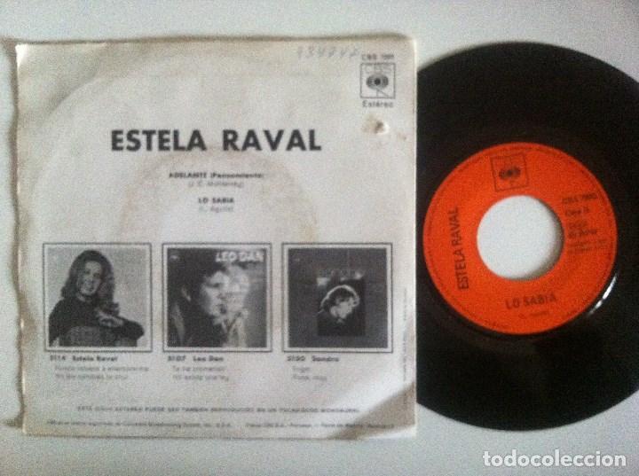 Discos de vinilo: ESTELA RAVAL - adelante / lo sabia - SINGLE 1971 - CBS - LOS 5 LATINOS - Foto 2 - 152307870