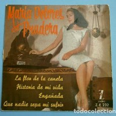 Discos de vinilo: MARIA DOLORES PRADERA (EP 1961) LA FLOR DE LA CANELA - HISTORIA DE MI VIDA - . Lote 152313386