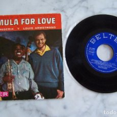 Discos de vinilo: SINGLE 45 RPM NINA & FREDERIK Y LOUIS ARMSTRONG. BANDA SONORA DE FORMULA FOR LOVE.. Lote 152322382