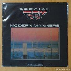 Discos de vinilo: SPECIAL EFX - MODERN MANNERS - LP. Lote 152337772