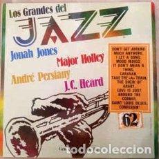 Discos de vinilo: JONAH JONES, ANDRÉ PERSIANY, MAJOR HOLLEY, J.C. HEARD - LOS GRANDES DEL JAZZ 62 (LP, COMP) LABEL:SA. Lote 152338598