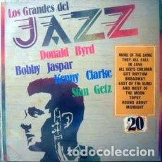 Discos de vinilo: DONALD BYRD / BOBBY JASPAR / KENNY CLARKE / STAN GETZ - LOS GRANDES DEL JAZZ 20 (LP, COMP) LABEL:SA. Lote 152339982